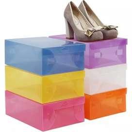 Kotak Sepatu transparan banyak warna