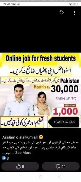 Online Job at home on mobile