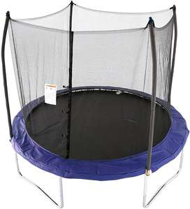 Fitness 10 feet Trampoline with Enclosure Net Exercise Trampoline