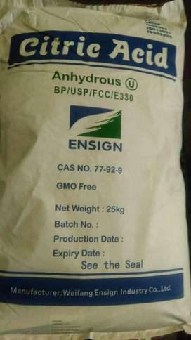Jual bahan kimia citric acid anhydrous BP/USP ex-China, citrun,citruun