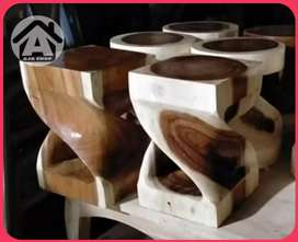 Kursi stool suarwood trembesi - AJASHOP