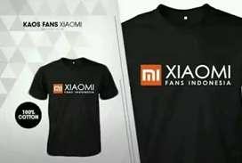 Kaos Xiaomi bahan adem melar cuman 40 rb