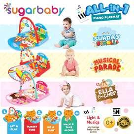Playmat Sugar Baby All in 1 Alas Bermain Anak Bayi Playgym Bayi Murah