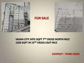 Plot in 7 th cross vasan city west side