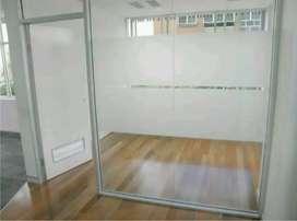 pusat kaca film kantor motif garis di Solobaru Sukoharjo