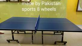 Table tennis with 8 wheel