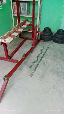 Gym bench and weight