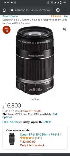 Canon 55-250 lens for sale
