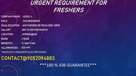 URGENT REQUIREMENT FOR FRESHERS