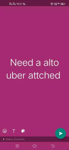 Need a alto uber attached