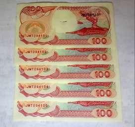 Uang Kertas Kuno Rp. 100,-