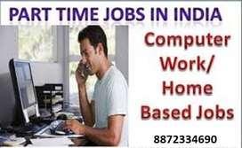 )Computer operator job/ pdf to MS- word offline work/home based data e