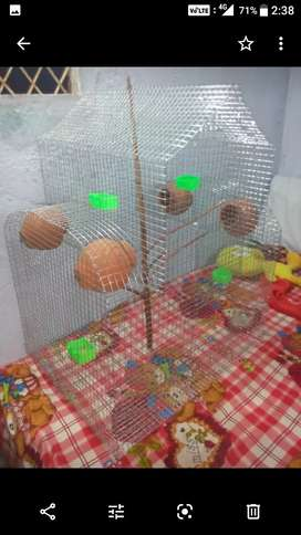 Birds beautiful cage+breeding box