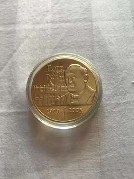 POPE JOHN PAUL 2 Gold Plated Coin