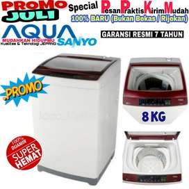 Mesin cuci Aqua Sanyo 8kg murah 1 tabung