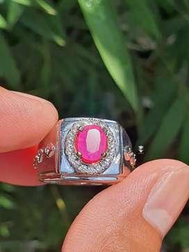 Jual Batu Permata Natural Asli Ruby Burma  1.15 Carats Heat Only +Memo