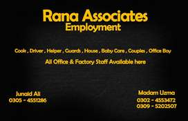 TRUST WORTHY HOME SERVANTS AVAILABLE, Rana Associates