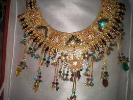 Indian design 1 carats Gold plated jewelry set
