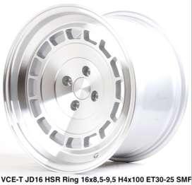 velg mobil honda city VCE-T JD16 HSR R16X85/95 H4x100 ET30/25 SMF