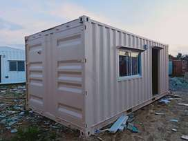 porta cabin office container ceiling and wooden walls vinyl floor