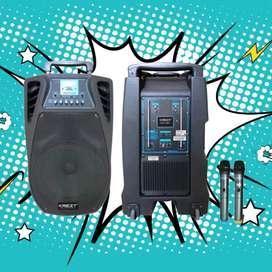 Jasa Sewa Sound Portable 2 Mic Ready Antar rea Jogja 24 Jam