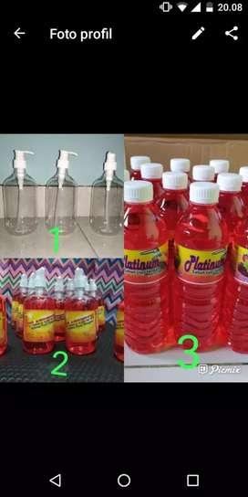 Botol pump bening kualitas bagus juga jual refil
