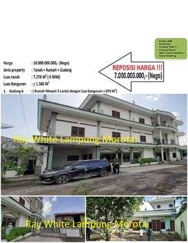 Dijual Tanah bonus Rumah Mewah di Gedong Tataan (kode He210)