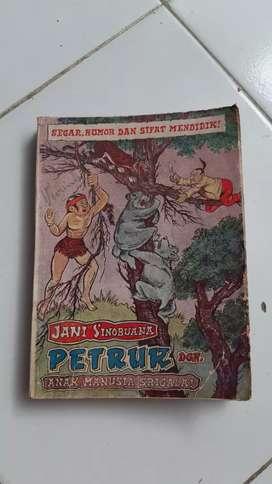 Buku cerita Bergambar Komik petruk dengan anak manusia srigala