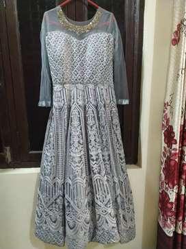 Elegant grey gown