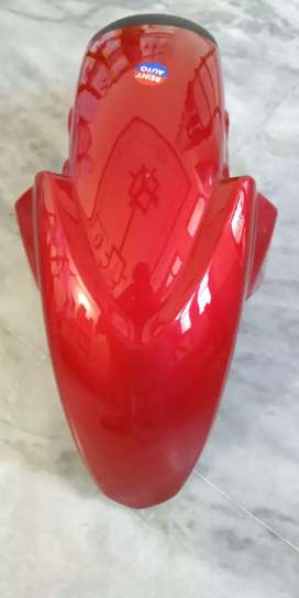 Tvs Apache rtr front mudguard(red colour)