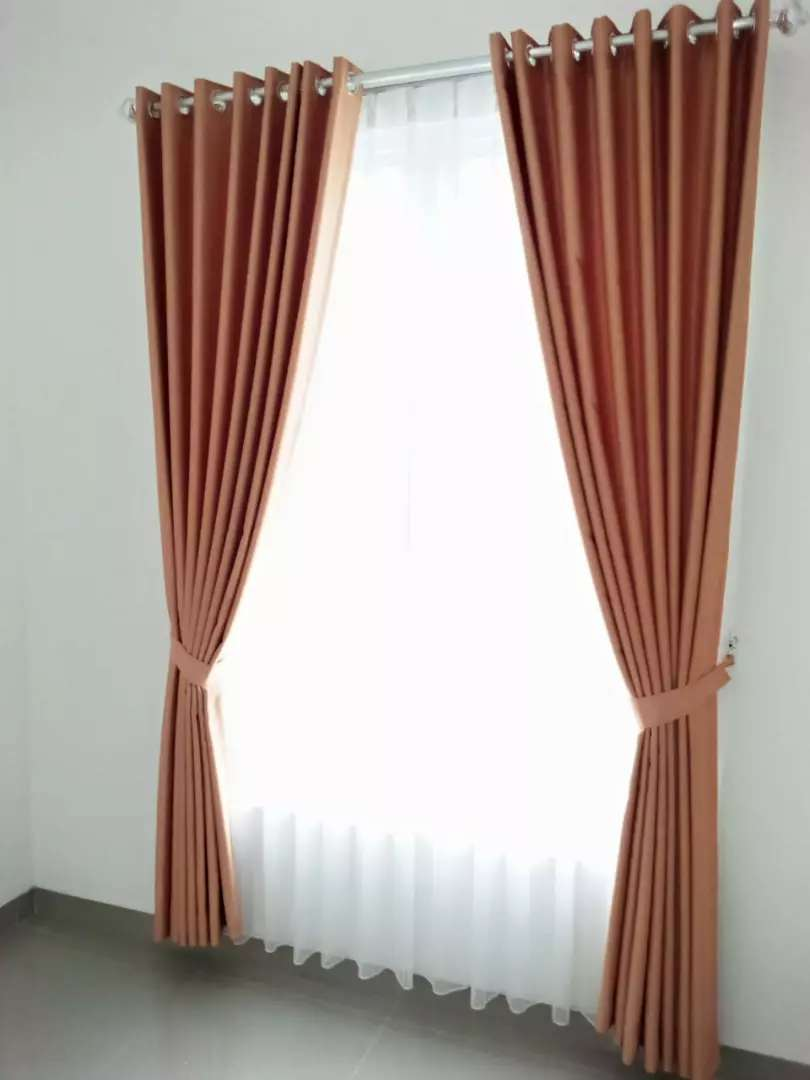 Hordeng gorden gordyn curtain series-11534 desain elegan cerah 0