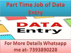 Work from Home part time job Home based work data entry projects