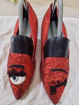 Sepatu import chiara ferragni uk 39 made in italy