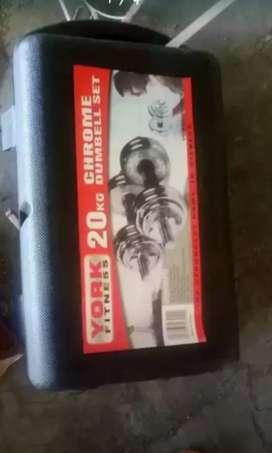 Burbell chrome fullset 20 kg sukun grandford