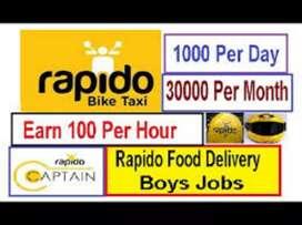 RAPIDO HYD FOOD DELIVERY JOBS