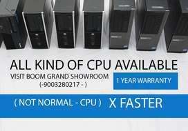 ALL KIND OF CPU AVAILABLE   HOME DELIVERY   WARRANTY   955II33355 CALL