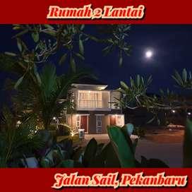 Dijual rumah 2 lantai jalan perkasa,tenayan raya,pekanbaru