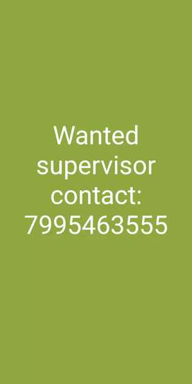 Wanted supervisor in pakala we need more experience in e-commerce