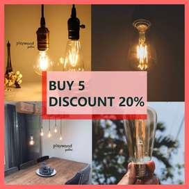 PROMO Lampu LED Filamen 4 watt Beli 5 Diskon 20%