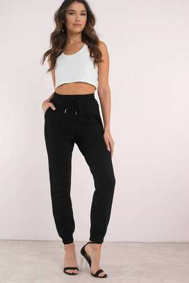 Ladies Black Sports And Excersice Trouser
