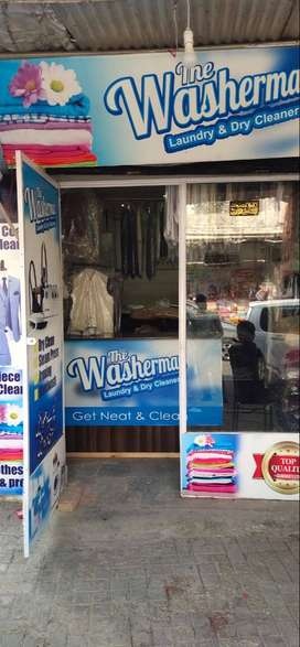 Running Laundry and Dry Cleaning shop for sale in Model Town