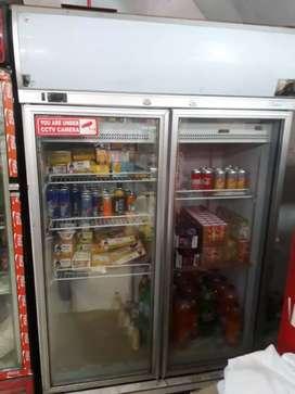 Double door display glass refridgerator in very good condition