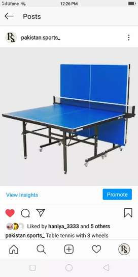 Table Tennis with 8 wheels