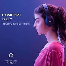 Mi Super Bass Bluetooth Headset  (Black, Red, On the Ear)