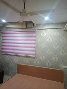 Variety models of curtains and wallpapers with installing