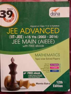 IIT - JEE Mains and Advance Mathematics 39 year Chapterwise Topicwise