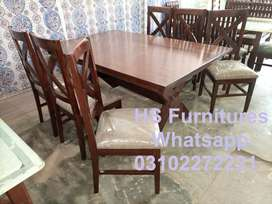 6 Chairs Dining Set Available