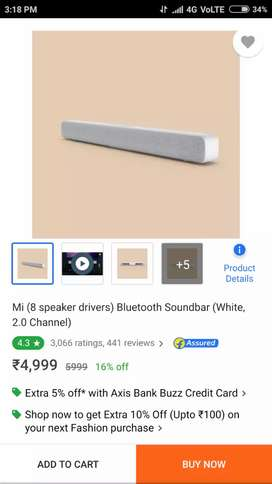 Mi soundbar new unboxed