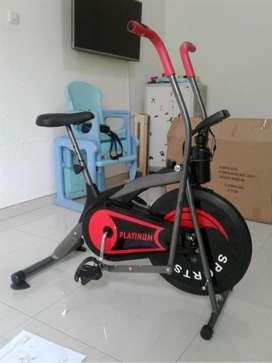 baru sepeda fitnes statis magnetik ez-557 // kardio treadmill orbitrek