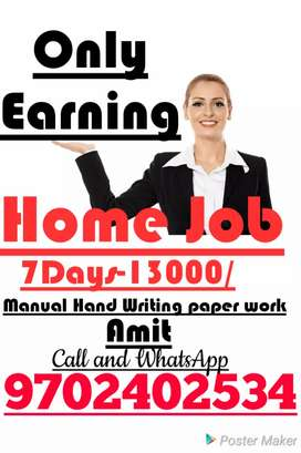 Hand Writing paper work good Income